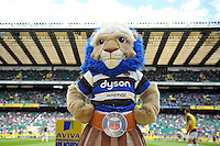 Bath Rugby mascot Maximus at Twickenham. Aviva Premiership Final, between Bath Rugby and Saracens on May 30, 2015 at Twickenham Stadium in London, England. Photo by: Patrick Khachfe / Onside Images