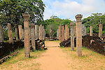 Atadage building in the Quadrangle, UNESCO World Heritage Site, the ancient city of Polonnaruwa, Sri Lanka, Asia