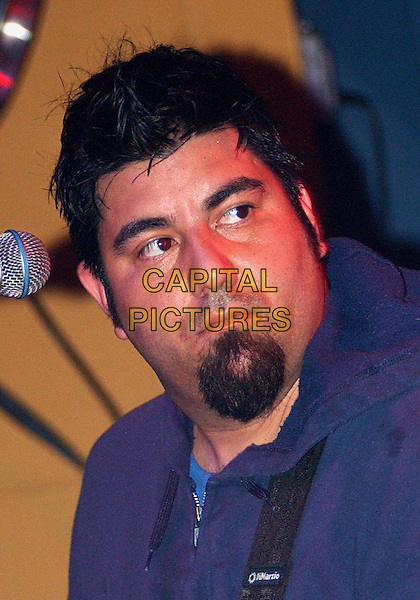 CHINO MORENO (of THE DEFTONES fame) performs with TEAM SLEEP.Performs  during a tour stop of their much anticipated first full American tour held at Mr. Smalls Theatre, Pittsburgh, PA, USA,.July 6, 2005..portrait headshot beard concert gig.Ref: ADM.www.capitalpictures.com.sales@capitalpictures.com.©Jason Nelson/AdMedia/Capital Picture