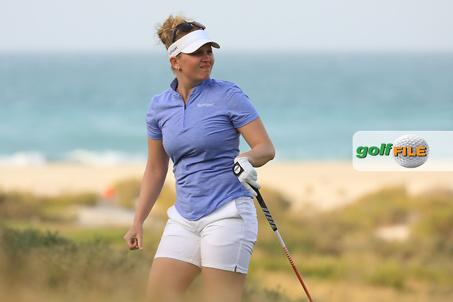Nanna Koerstz Madsen (DEN) during the first round of the Fatima Bint Mubarak Ladies Open played at Saadiyat Beach Golf Club, Abu Dhabi, UAE. 10/01/2019<br /> Picture: Golffile | Phil Inglis<br /> <br /> All photo usage must carry mandatory copyright credit (© Golffile | Phil Inglis)