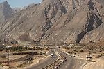 The peleton head towards the Green Mountains during Stage 5 of the 2018 Tour of Oman running 152km from Sam'il to Jabal Al Akhdhar. 17th February 2018.<br /> Picture: ASO/Muscat Municipality/Kare Dehlie Thorstad | Cyclefile<br /> <br /> <br /> All photos usage must carry mandatory copyright credit (&copy; Cyclefile | ASO/Muscat Municipality/Kare Dehlie Thorstad)