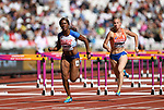 Tiffany PORTER (GBR) in the womens 100m hurdles heats. IAAF world athletics championships. London Olympic stadium. Queen Elizabeth Olympic park. Stratford. London. UK. 11/08/2017. ~ MANDATORY CREDIT Garry Bowden/SIPPA - NO UNAUTHORISED USE - +44 7837 394578