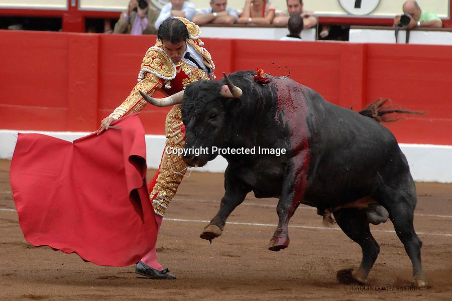19 JULIO 2008 SANTANDER.un matador de toros en la feria de Santiago en la corrida del dia 19 julio..foto JOAQUIN GOMEZ SASTRE