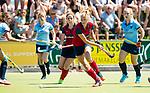 NIJMEGEN -  Iris Aalbers (Huizen)  tijdens  de tweede play-off wedstrijd dames, Nijmegen-Huizen (1-4), voor promotie naar de hoofdklasse.. Huizen promoveert naar de hoofdklasse.  COPYRIGHT KOEN SUYK