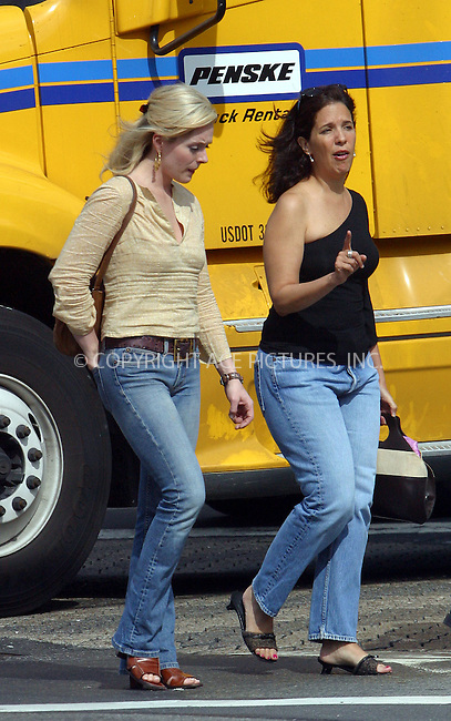 *** EXCLUSIVE ***..Broadway star Jane Krakowski strolling in SoHo with her friends after she enjoyed lunch at Bar Pitti on Sixth Avenue. New York, September 13, 2003. Please byline: NY Photo Press.   ..*PAY-PER-USE*      ....NY Photo Press:  ..phone (646) 267-6913;   ..e-mail: info@nyphotopress.com