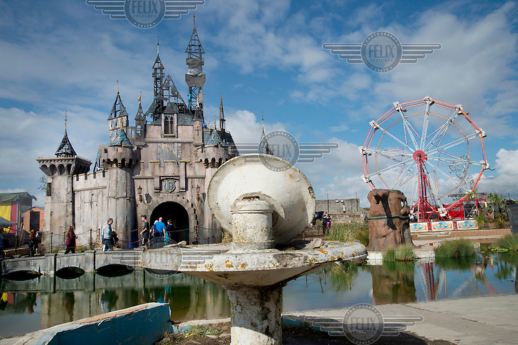 'Cinderella's Castle', created by artists Block9, on show at Dismaland, artist Banksy's play on the ammusement park experience. Work by 50 artists was on display over the summer at Bemusement Park, a derelict lido on the seafront.