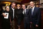 Edie Falco, Stephen Wallem, Kate Baldwin, Mike Isaacson and Joe Ortmeyer attends the The Robert Whitehead Award presented to Mike Isaacson at Sardi's on May 10, 2017 in New York City.