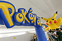 A signboard of Pokemon is seen at Minatomirai Station on August 9, 2017, Yokohama, Japan. Hundreds of Pokemon GO app fans gathered at the special Pokemon GO PARK, a 2km area including special PokeStops and PokemonGyms, to collect characters. Minatomirai holds an annual Pokemon event including a parade of 1500 Pikachu through the area and this year has added Pokemon GO attractions. Pokemon GO PARK is open from August 9 to 15. (Photo by Rodrigo Reyes Marin/AFLO)