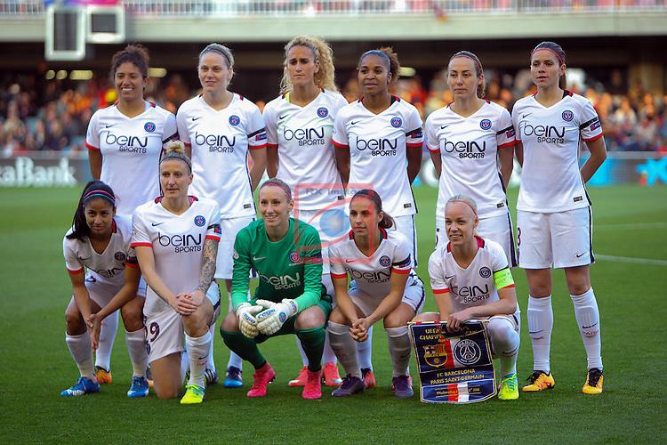UEFA Women's Champions League 2015/2016.<br /> Quarter Finals.<br /> FC Barcelona vs Paris Saint-Germain: 0-0.