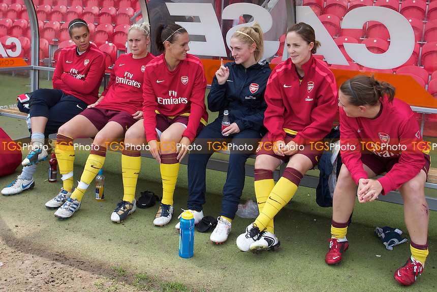 Arsenal bench..Doncaster Belles v Arsenal Ladies at Keepmoat Stadium, Doncaster. - Action fromFA Women's Super League 2011 - 07/05/11 - MANDATORY CREDIT: Mark Hodsman/TGSPHOTO - Self billing applies where appropriate - 0845 094 6026 - contact@tgsphoto.co.uk - NO UNPAID USE.