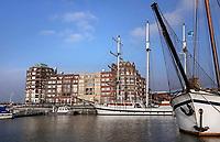 Nederland Lelystad-  Januari 2018.  Huizen aan de Bataviahaven.   Foto Berlinda van Dam / Hollandse Hoogte