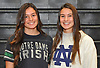 Mt. Sinai senior twins Meaghan Scutaro, left, and Kirsten Scutaro pose for a portrait inside the school's gym on Wednesday, Nov. 8, 2017. The sisters committed to playing NCAA women's lacrosse for Notre Dame.