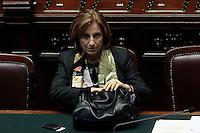 Maria Carmela Lanzetta<br /> Roma 25-02-2014 Camera. Voto di fiducia al nuovo Governo.<br /> Senate. Trust vote for the new Government.<br /> Photo Samantha Zucchi Insidefoto