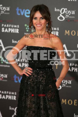 Goya Toledo attend the 2015 Goya Awards at Auditorium Hotel, Madrid,  Spain. February 07, 2015.(ALTERPHOTOS/)Carlos Dafonte) /NORTEphoto.com