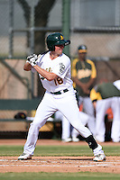 Oakland Athletics outfielder Tyler Marincov (18) during an Instructional League game against the San Francisco Giants on October 15, 2014 at Papago Park Baseball Complex in Phoenix, Arizona.  (Mike Janes/Four Seam Images)