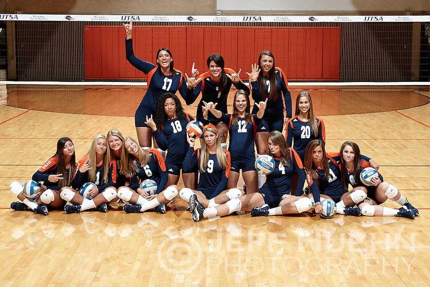 SAN ANTONIO, TX - AUGUST 2, 2014: The University of Texas at San Antonio Volleyball Team and Individual photographs. (Photo by Jeff Huehn)