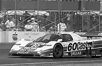 The #60 Castrol Racing Jaguar XJR-10 of Price Cobb races to victory in the IMSA GTP/Lights race at the Florida State Fairgrounds on the way to a 9th place finish in Tampa, FL, October 1, 1989. (Photo by Brian Cleary/www.bcpix.com)