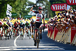 Dan Martin (IRL) UAE Team Emirates wins Stage 6 of the 2018 Tour de France running 181km from Brest to Mur-de-Bretagne Guerledan, France. 12th July 2018. <br /> Picture: ASO/Alex Broadway | Cyclefile<br /> All photos usage must carry mandatory copyright credit (&copy; Cyclefile | ASO/Alex Broadway)