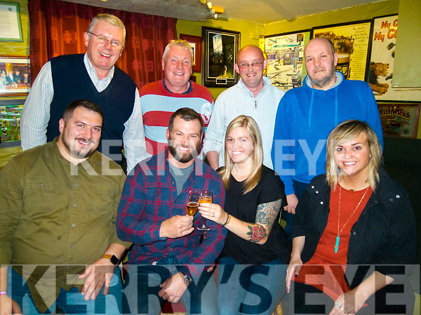 Diamond party.<br /> --------------------<br /> Hurricane Ophelia delayed the plans of Joe Coney from Connecticut USA, a regular visitor to Cloghane to his relatives as he had to wait till Tuesday to climb Mount Brandon with his girlfriend Andrea Peres to propose to her at the summit, pictured celebrating in O'Connor's Bar, Cloghane that night were, seated L-R Anthony Rossi, Joe Coney, Andrea Peres with Tamra Hasenbank, back L-R Micheal &amp;Fergal O'Dowd, Donal Moriarty with Kalle Muller.