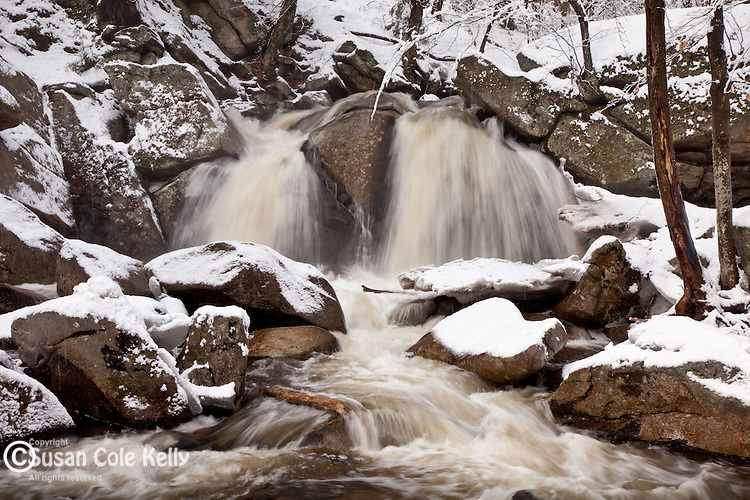 Trap Falls in Willard Brook State Forest in Townsend, MA, USA