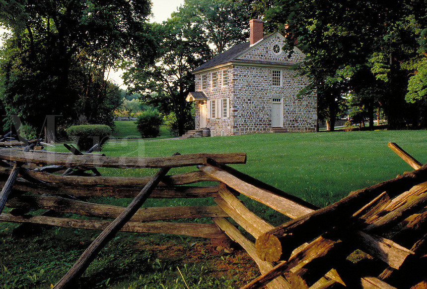George Washington's Headquarters at the Valley Forge National Historic Park, Valley Forge, PA. American Revolution. Valley Forge Pennsylvania USA.