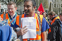 Junior Doctors All Out Strike Rally, Birmingham, Vic Sq, 26th April 2016