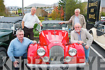 Driving old cars.----------------.About to get going in the KVV&CCC organised annual autumn weekend run outside the Kenmare Bay hotel last Saturday morning were L-R Florian Seidler(Glenbeigh)Garrett Foley(Tralee)Ann Browne(Kenmare)and Cris Dyre(Tralee).