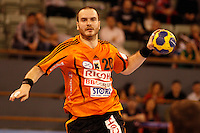 25.03.2012 MADRID, SPAIN -  EHF Champions League match played between BM At. Madrid vs Kadetten Schaffhausen (26-30) at Palacio Vistalegre stadium. the picture show Rares Jurca (Kadetten Schaffhausen player)