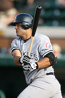 April 11, 2009:  Catcher Jesus Montero of the Tampa Yankees, Florida State League Single-A affiliate of the New York Yankees, during a game at Joker Marchant Stadium in Lakeland, FL.  Photo by:  Mike Janes/Four Seam Images