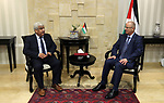 Palestinian Prime Minister Rami Hamdallah meets with a delegation from the Engineers syndicate in the West Bank city of Ramallah on May 13, 2018. Photo by Prime Minister Office