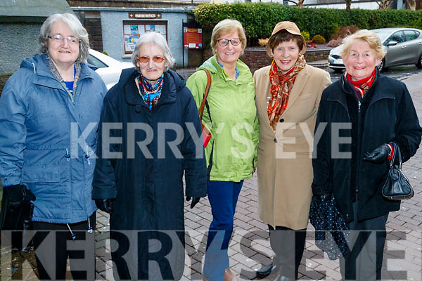Catherine O'Connor, Catherine O'Connor, Anne Coffey, Bridie O'Connor and Sheila Horgan, all from Tralee, pictured at the Tralee Credit Union 50th Anniversary Mass, in St. John's Church, on Sunday morning last.