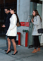 NEW YORK, NY - JANUARY 25: Rachael Denhollander and Kyle Stephens seen after an appearance on CBS This Morning discussing the Larry Nassar Sexual Abuse case in New York City on January 25, 2018. Credit: RW/MediaPunch
