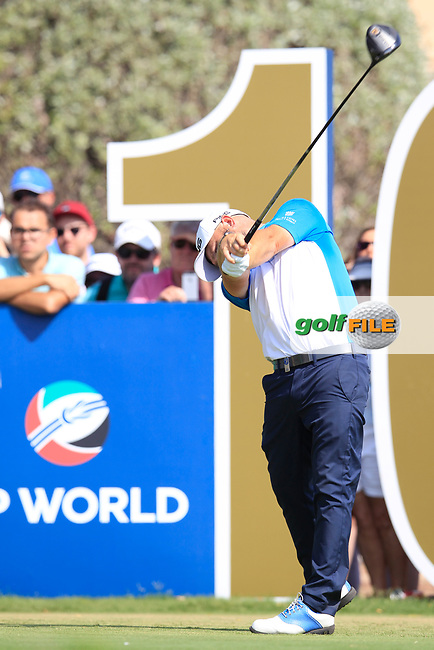 Andy Sullivan (ENG) on the 10th tee during the final round of the DP World Tour Championship, Jumeirah Golf Estates, Dubai, United Arab Emirates. 18/11/2018<br /> Picture: Golffile | Fran Caffrey<br /> <br /> <br /> All photo usage must carry mandatory copyright credit (&copy; Golffile | Fran Caffrey)
