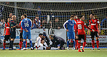Wes Foderingham gets attention after a knock