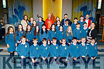 Paul Kennelly's Scoil Eoin Balloonagh 6th class receive their Confirmation from Bishop Ray Browne in St Brendans Church on Thursday with Mr Paul Kennelly, Aine Baker, Catherine Ryan and Fr Padraig Walsh.