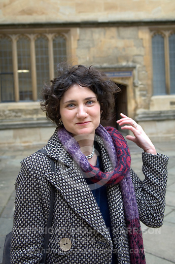 Lara Feigel at the Bodleian Library during the Sunday Times Oxford Literary Festival, UK, 16 - 24 March 2013. <br /> <br /> PHOTO COPYRIGHT GRAHAM HARRISON graham@grahamharrison.com<br /> +44 (0) 7974 357 117<br /> Moral rights asserted.
