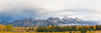 67545-09003 Fall color from Blacktail Ponds Overlook, Grand Teton National Park, WY