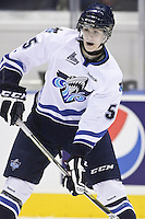 QMJHL (LHJMQ) hockey profile photo on Rimouski Oceanic Samuel Morin October 6, 2012 at the Colisee Pepsi in Quebec city.