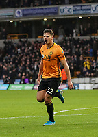 Wolverhampton Wanderers' Leander Dendoncker celebrates scoring his side's equalising goal to make the score 1-1 in the 14th minute<br /> Photographer Lee Parker/CameraSport<br /> <br /> The Premier League - Wolverhampton Wanderers v Newcastle United - Saturday 11th January 2020 - Molineux - Wolverhampton<br /> <br /> World Copyright © 2020 CameraSport. All rights reserved. 43 Linden Ave. Countesthorpe. Leicester. England. LE8 5PG - Tel: +44 (0) 116 277 4147 - admin@camerasport.com - www.camerasport.com
