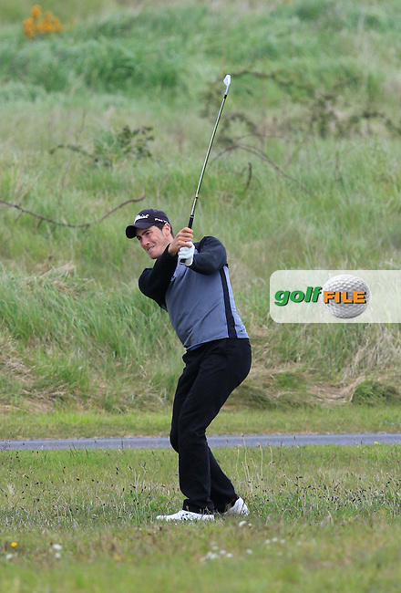 Jeff Hopkins (The Royal Dublin) on the 13th fairway during Round 3 of the Irish Amateur Open Championship at Royal Dublin on Saturday 9th May 2015.<br /> Picture:  Thos Caffrey / www.golffile.ie