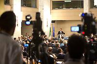 Il Presidente del Consiglio Matteo Renzi parla durante la Conferenza degli Ambasciatori alla Farnesina, Roma, 28 luglio 2015.<br /> Italian Premier Matteo Renzi speaks during the Conference of Italian Ambassadors, at the Foreign Ministry headquarters in Rome 28 July 2015.<br /> UPDATE IMAGES PRESS/Riccardo De Luca