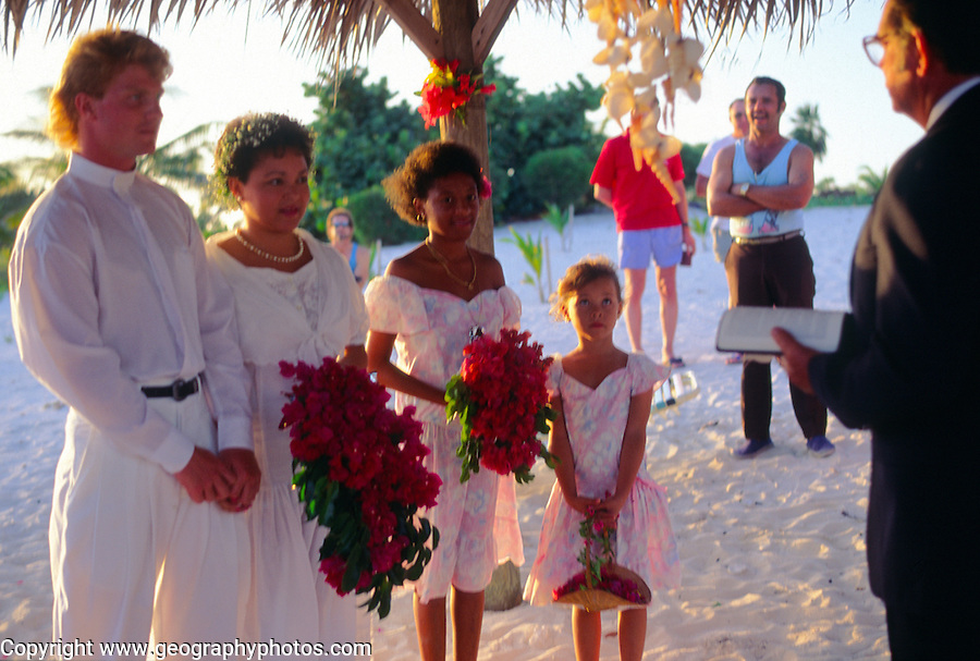 Beach wedding, Cayman Brac, Cayman Islands, British West Indies,