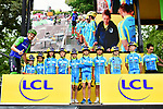 Green Jersey Marcel Kittel (GER) Quick-Step Floors at sign on before Stage 12 of the 104th edition of the Tour de France 2017, running 214.5km from Pau to Peyragudes, France. 13th July 2017.<br /> Picture: ASO/Alex Broadway | Cyclefile<br /> <br /> <br /> All photos usage must carry mandatory copyright credit (&copy; Cyclefile | ASO/Alex Broadway)