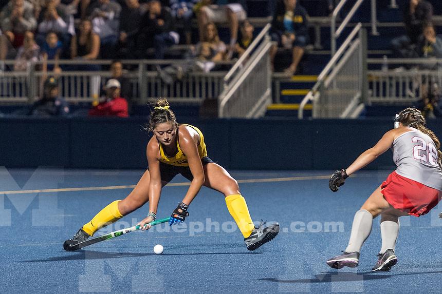 9/23/16 University of Michigan Women's Field Hockey team defeats Ohio State, 1-0 at Ocker Field, Ann Arbor, MI.