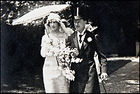 BNPS.co.uk (01202 558833)<br /> Pic: BlenheimPalace/BNPS<br /> <br /> Gladys wedding to the 9th Duke in 1921.<br /> <br /> The 'Most beautiful woman in the world' finally return's to Blenheim Palace.<br /> <br /> The treasured painting kept by a Duchess of Blenheim once described as 'the most beautiful woman in the world' through her declining years has finally returned to the Oxfordshire Palace 103 years after it was painted.<br /> <br /> American Gladys Deacon married the 9th Duke of Marlborough in 1921, five years after her portrait was painted in Paris by Italian artist Giovanni Boldini.<br /> <br /> But the marriage became troubled and the Duke finally evicted Gladys from the Palace in the ealy 1930's, she then became an eccentric recluse, before finally ending her days in a psychiatric hospital.<br /> <br /> When evicted Gladys took a few treasured possessions with her, including a statue given her by Rodin, and this glamorous portrait from her stunning younger days.