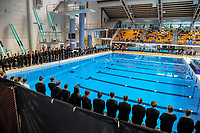 The opening ceremony on Day One of the 2018 North Island Synchronised Swimming Championships at Wellington Regional Aquatics Centre in Wellington, New Zealand on Saturday, 19 May 2018. Photo: Dave Lintott / lintottphoto.co.nz