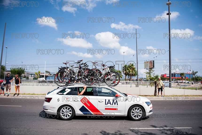 Castellon, SPAIN - SEPTEMBER 7: IAM car during LA Vuelta 2016 on September 7, 2016 in Castellon, Spain
