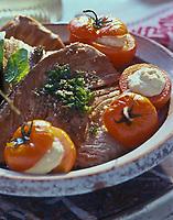 Gastronomie Générale/ Tranche de thon rouge et tomates  mozzarella