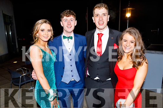 Lisa Costello, Padraig Walsh, Oliver Hart and Molly O'Keeffe attending the Mercy Mounthawk Debs in the Ballyroe Heights Hotel on Friday.