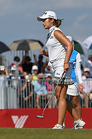 Jeongeun6 Lee (KOR) reacts after sinking her birdie putt on 18 during round 4 of the Volunteers of America Texas Classic, the Old American Golf Club, The Colony, Texas, USA. 10/6/2019.<br /> Picture: Golffile | Ken Murray<br /> <br /> <br /> All photo usage must carry mandatory copyright credit (© Golffile | Ken Murray)